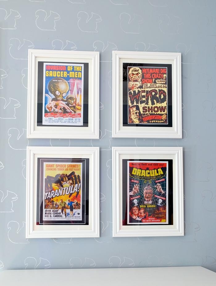 vintage horror movie printables