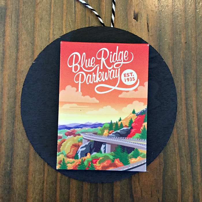 blue ridge parkway magnet ornament