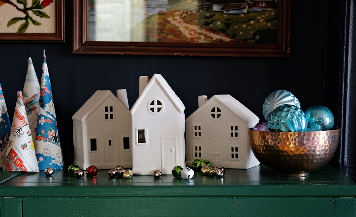 Christmas village houses from Target