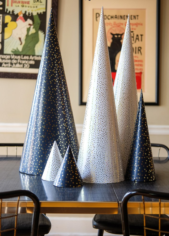 giant paper cone trees for Christmas