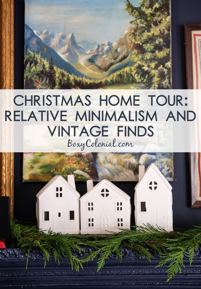 Christmas Home Tour: lots of vintage, thrifted finds and neutral colors