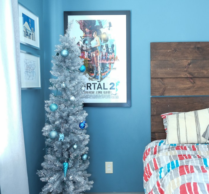 Christmas trees in kids' rooms