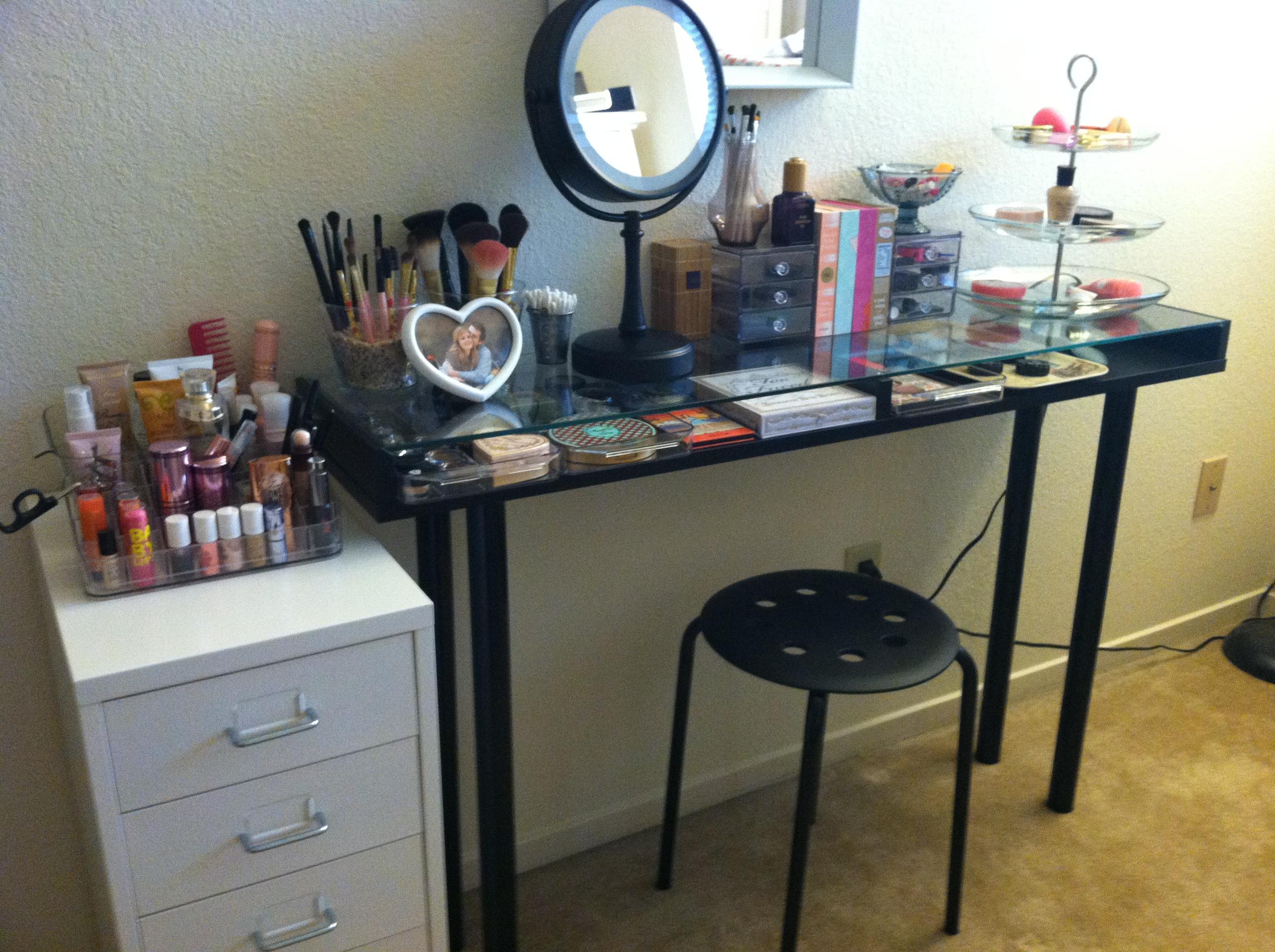 Makeup Storage: Ikea DIY Vanity | Boxy Foxy Beauty