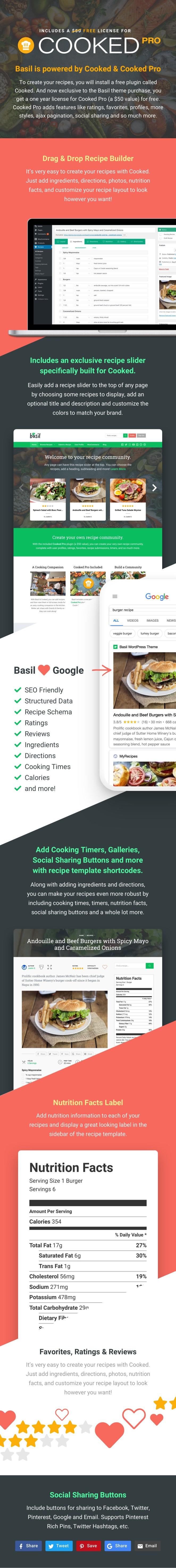 Basil - WordPress Recipes Theme - 2