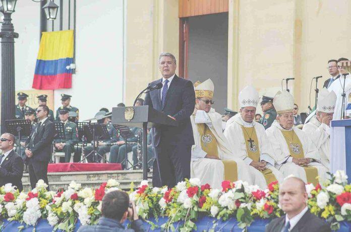 Presidente Duque en misa de la virgen de chiquinquirá