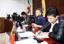 Mesa directiva del Concejo municipal de Sogamoso, encargada de coordinar el concurso de personero.