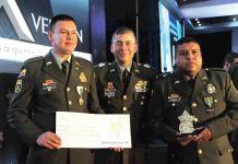 Los patrulleros Juan Cely y Edwin Rojas, de la Estación de Policía de Duitama, fueron galardonados.