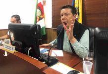 Concejal Edwin Barrera Sierra, ponente de proyecto que permitirá el pago de la prima a los docentes.