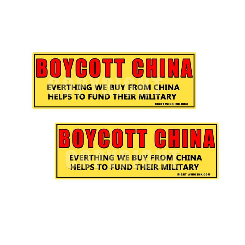 BOYCOTT CHINA - BUY AMERICAN