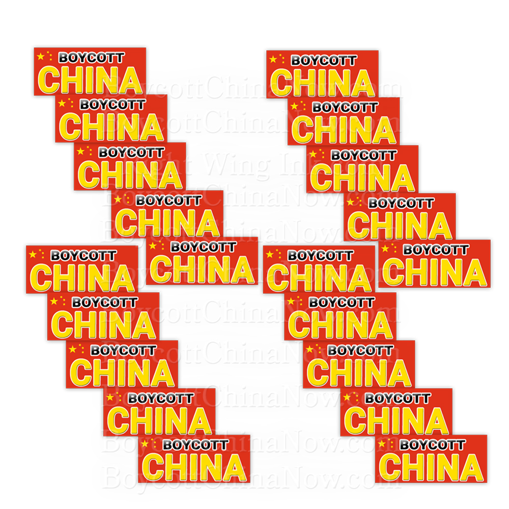 Boycott China Bumper Stickers -20