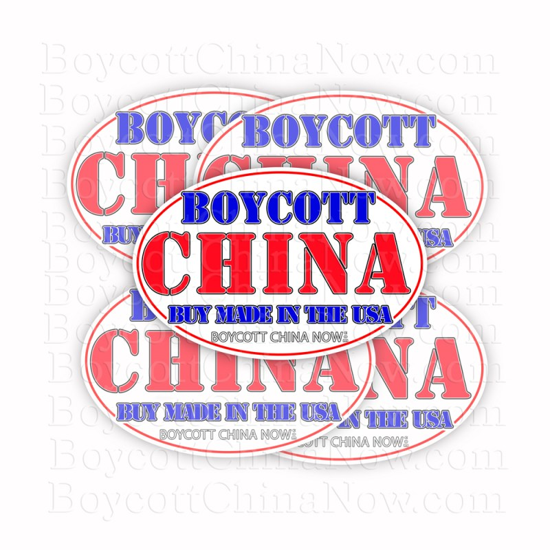 Boycott China Buy Made In The USA Stickers 5