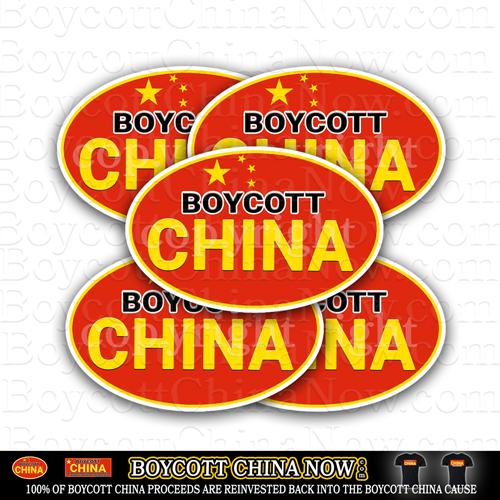 Boycott China Now Bumper Stickers 5 Pack
