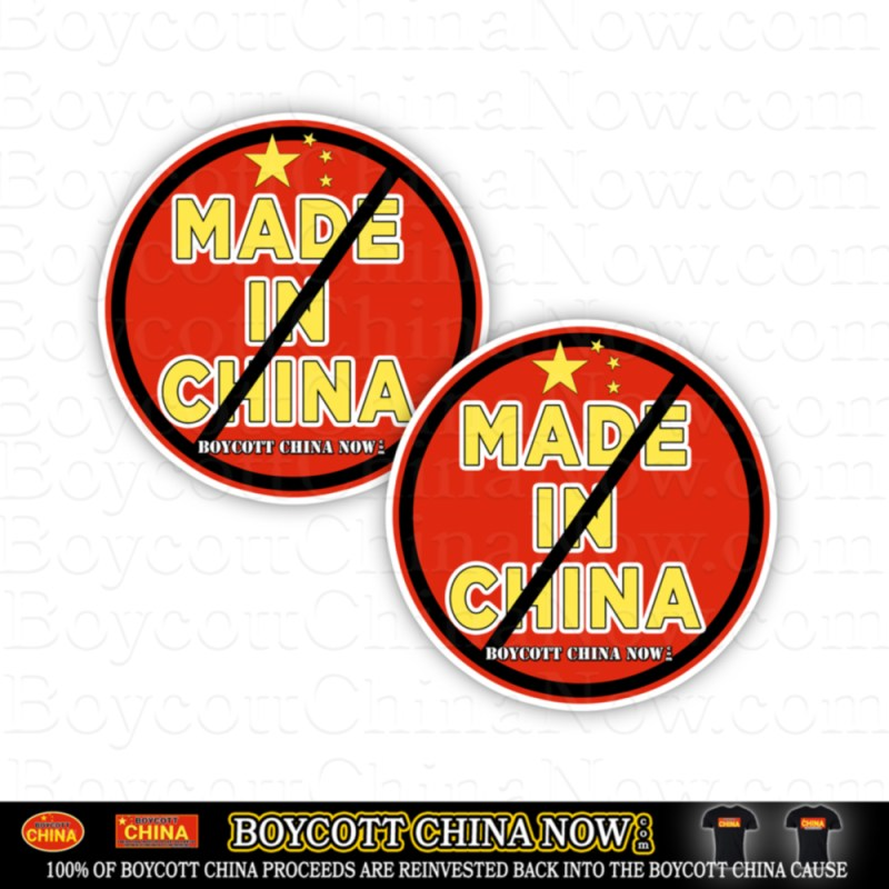 Anti China Made In China Stickers 2 Pack