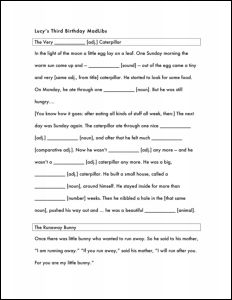 photograph relating to Happy Birthday Mad Libs Printable referred to as Lucys 3rd birthday Nuts Lib Boyds Nest Information