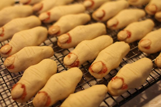 Witch finger cookies.