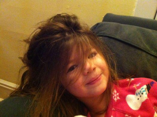 Bedtime hair.