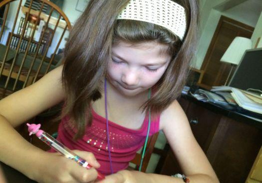 Rosie writing.