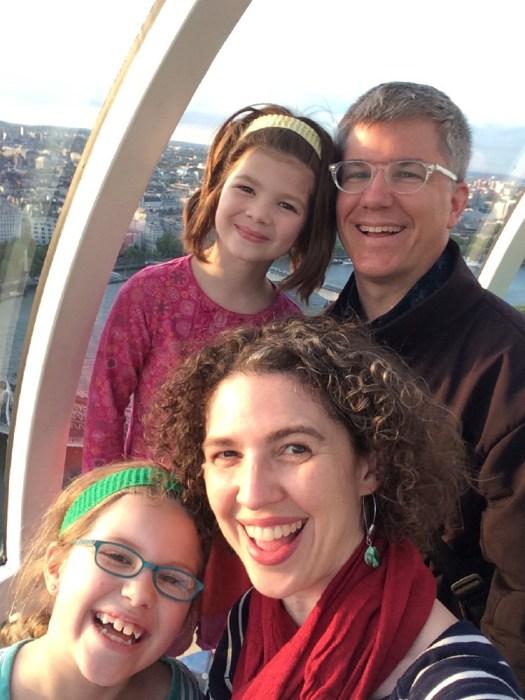 On the London Eye.