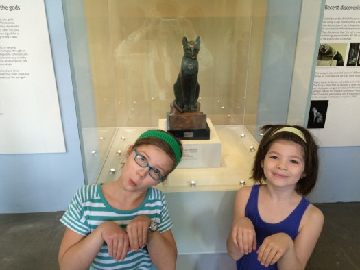 With the Egyptian Cat.