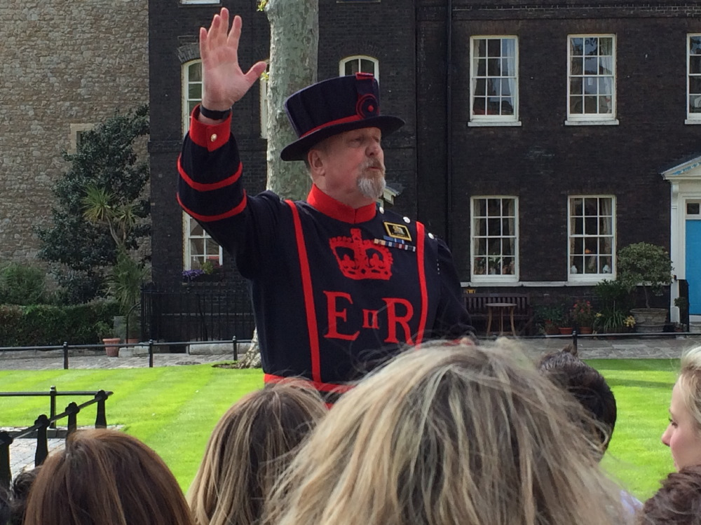 The yeoman warder at the Tower of London.