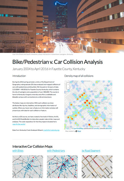 Website of collision maps