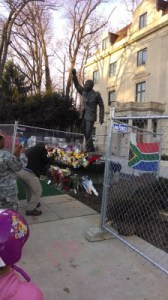 Nelson Mandela statue and tributes