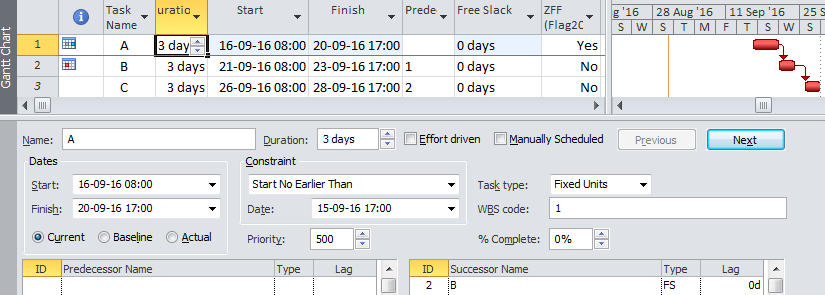 Simple Macro for Imposing Zero Free Float Constraints in Microsoft Project