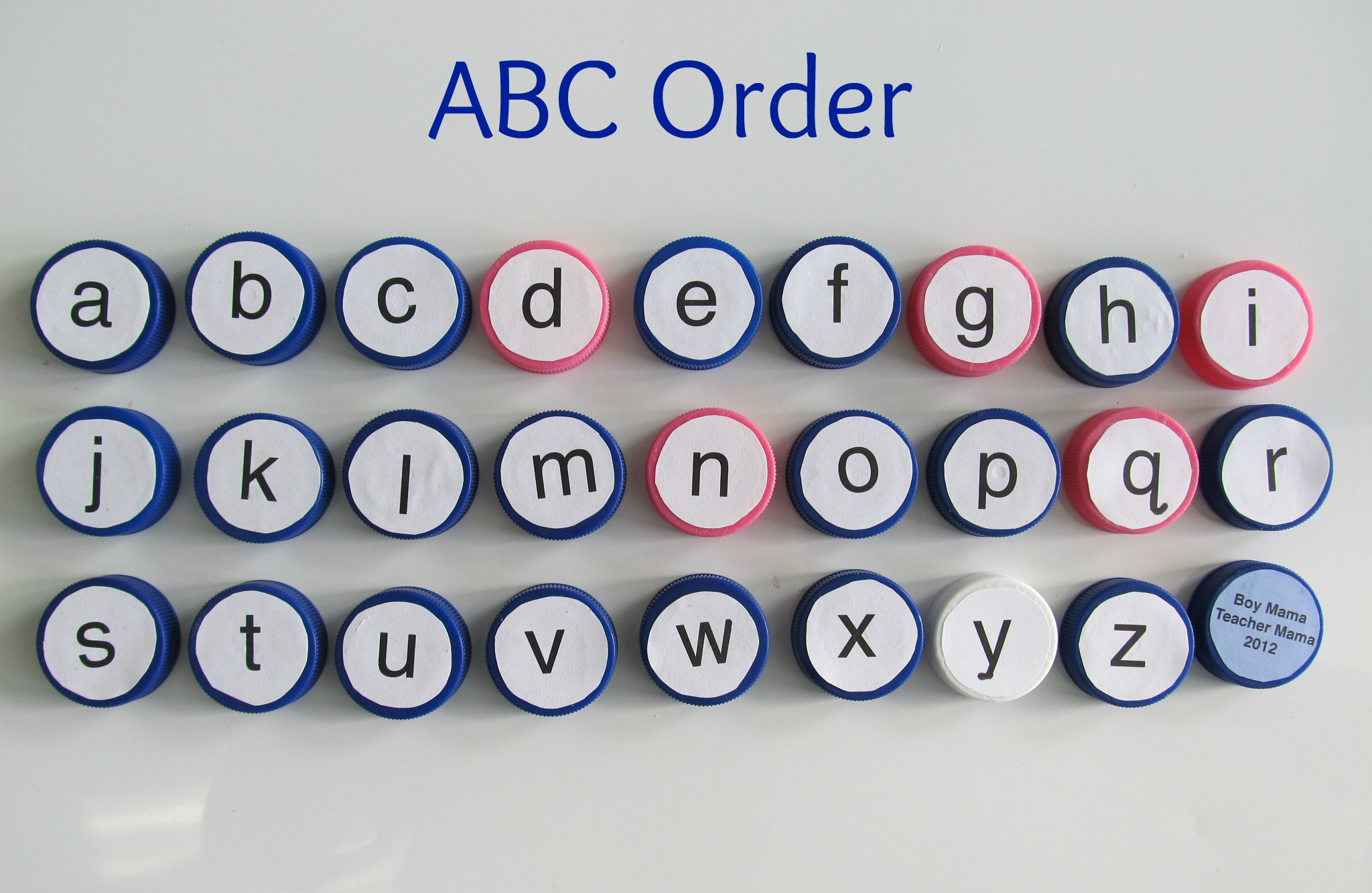 Bottle Caps Abcs