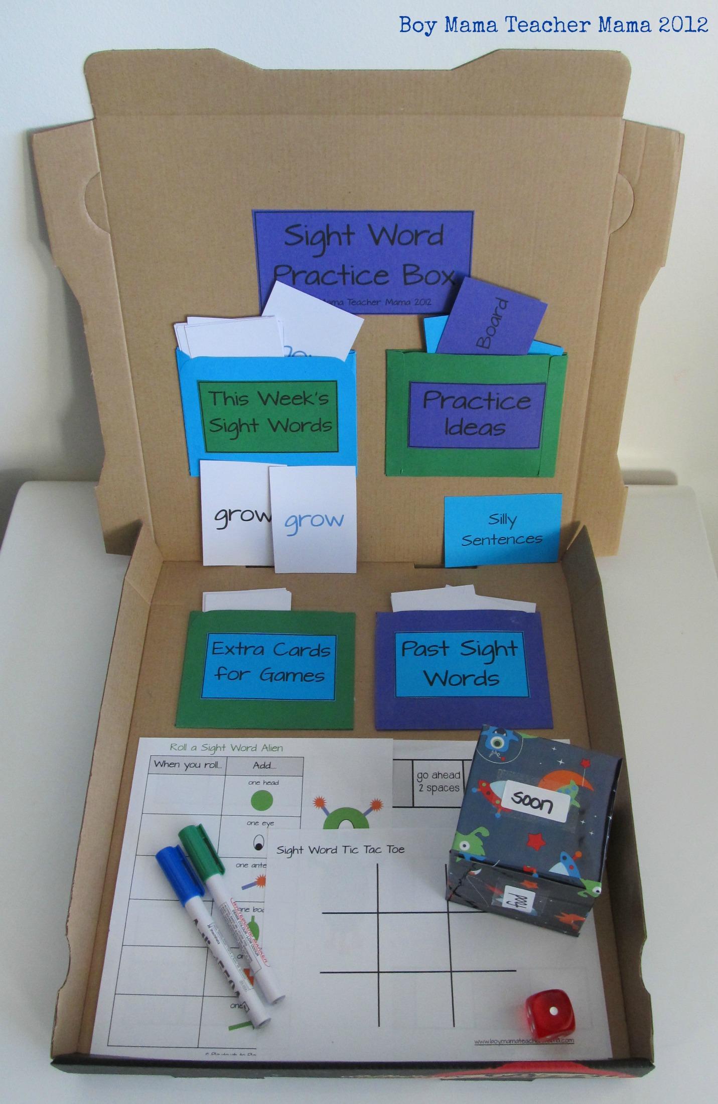 Teacher Mama Sight Word Practice Box