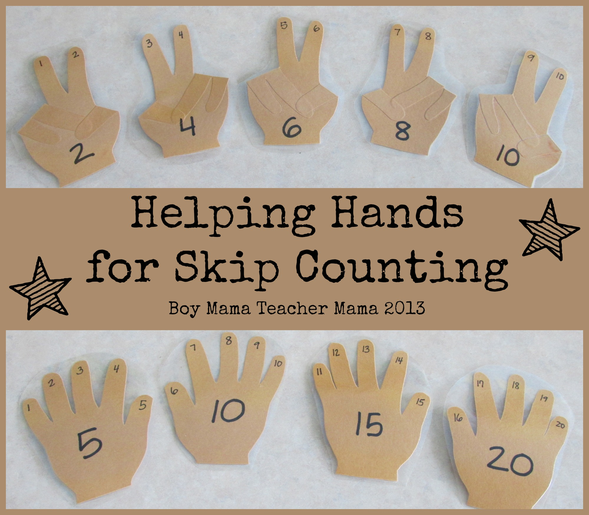 Teacher Mama Helping Hands For Skip Counting