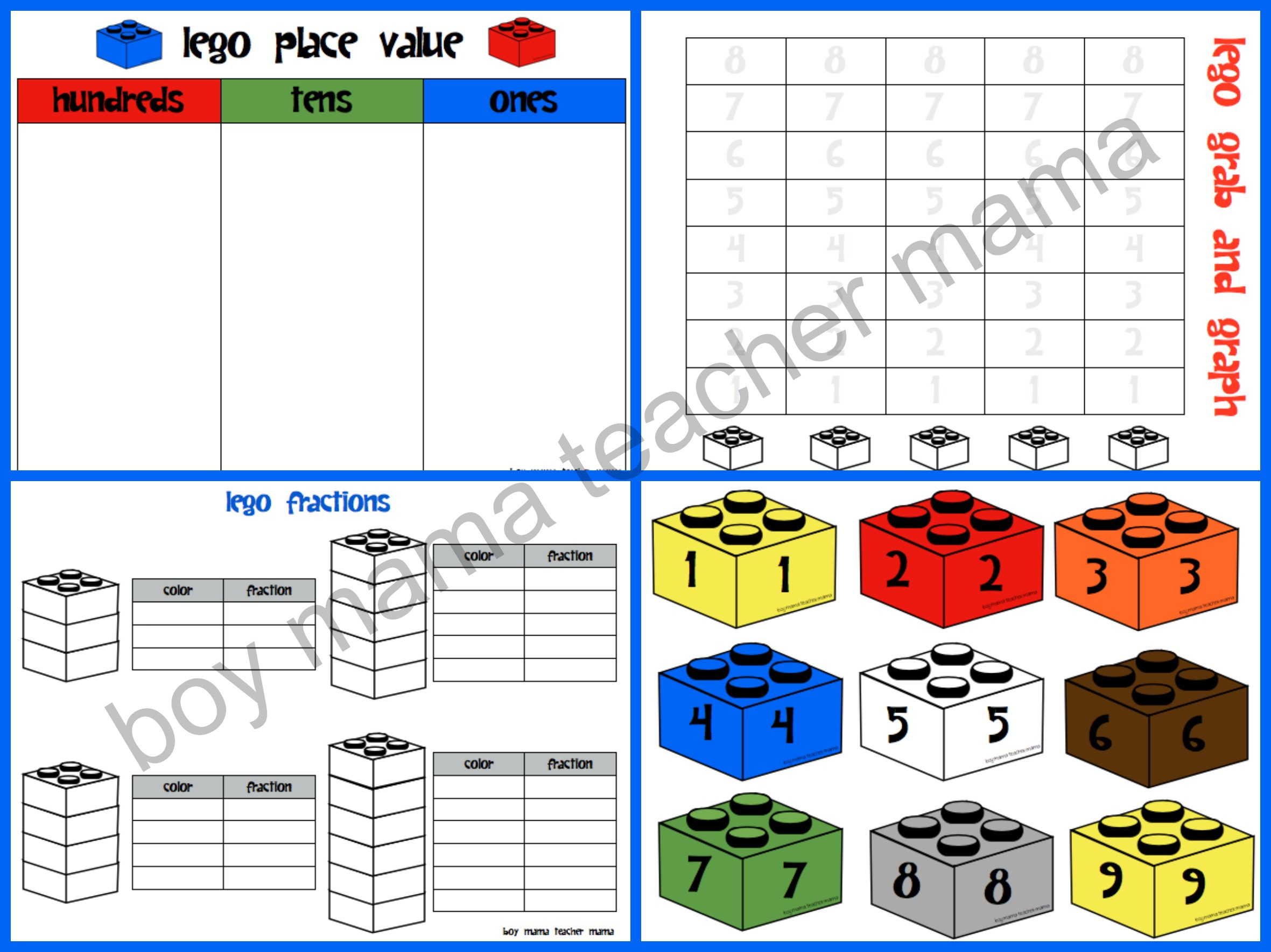 Teacher Mama Lego Math Activities