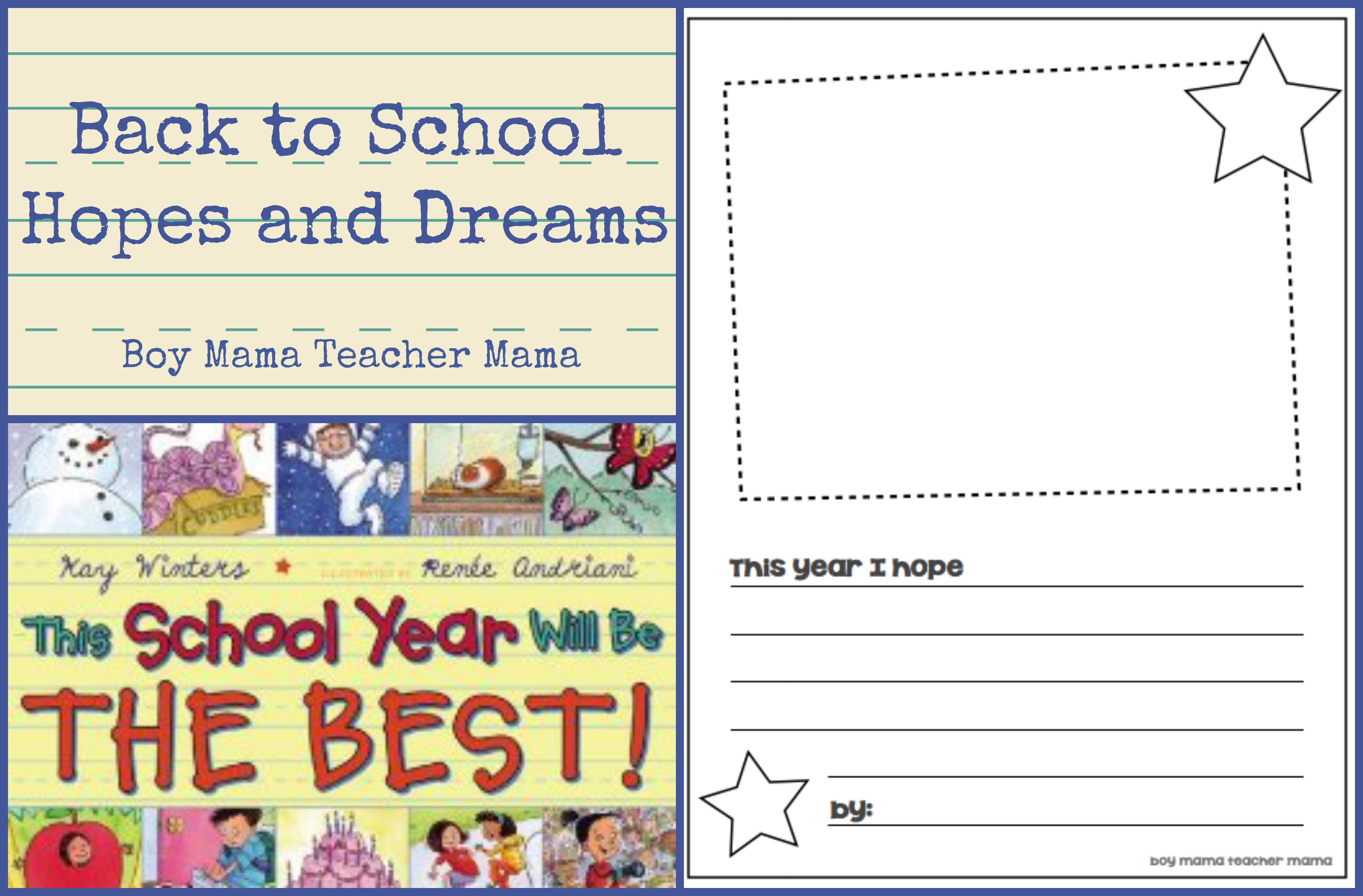 Book Mama Back To School Hopes And Dreams