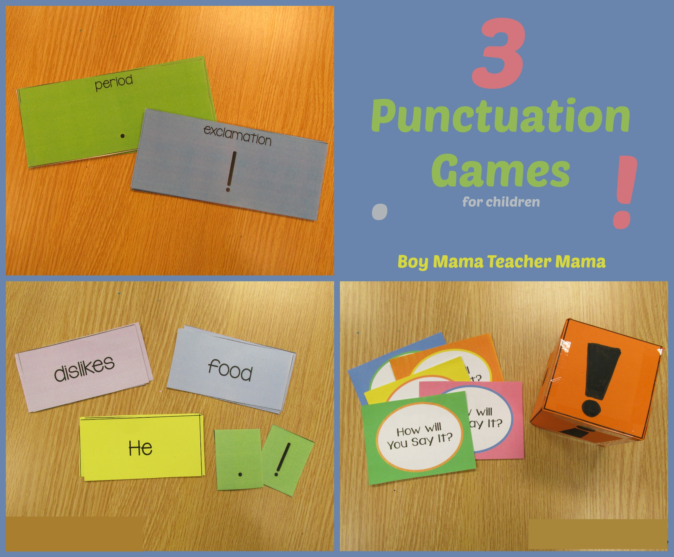Teacher Mama 3 Punctuation Games For Children And After