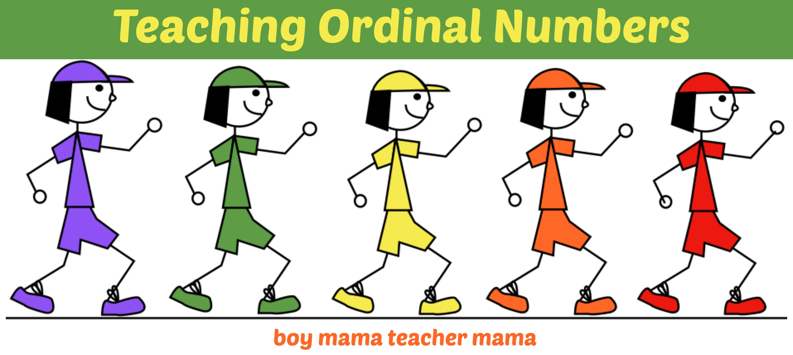 Teacher Mama Ordinal Number Practice And After School
