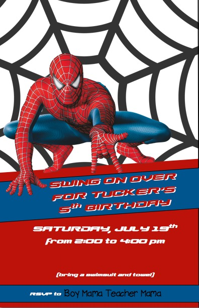boy mama spiderman birthday party