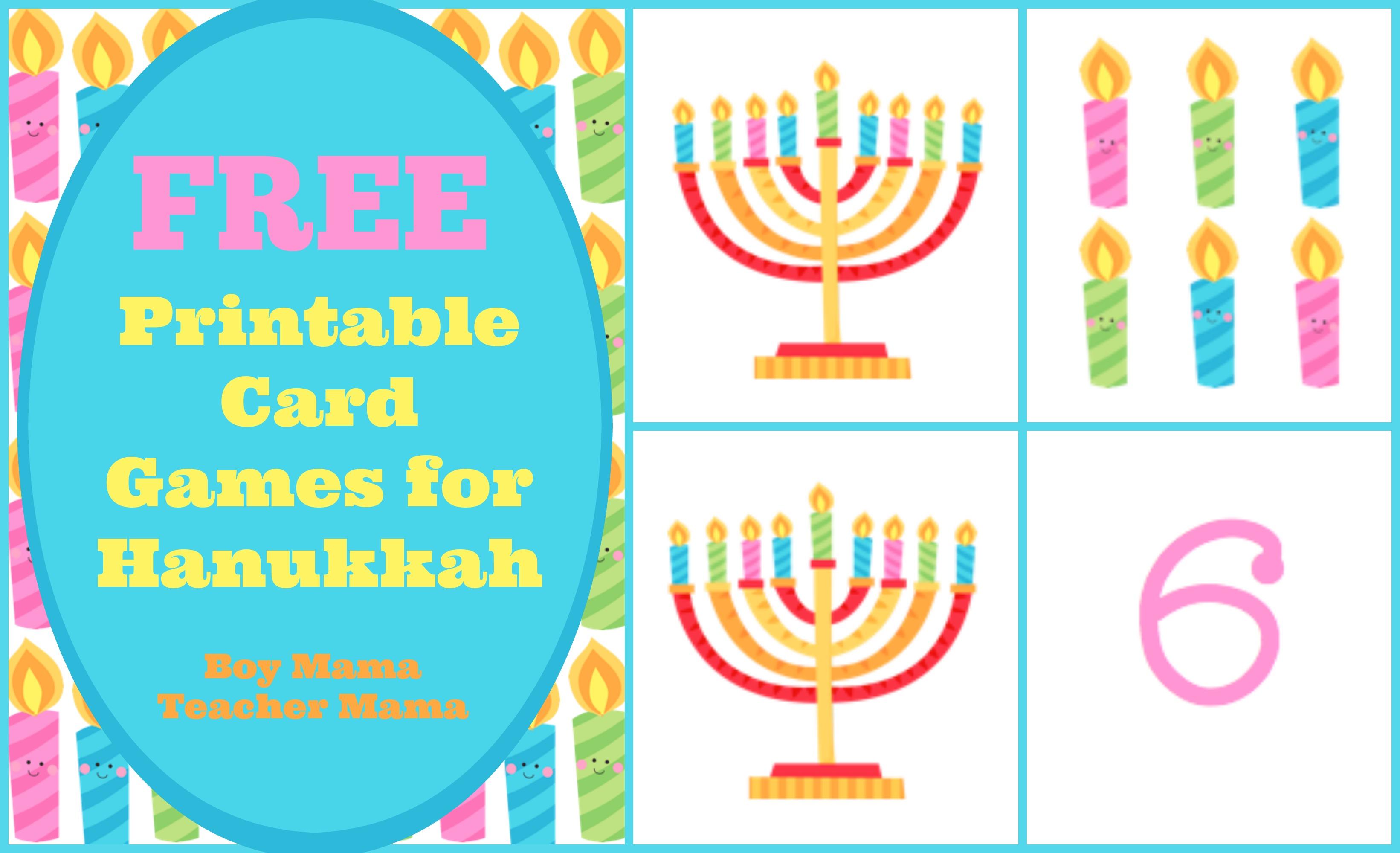 Boy Mama Free Printable Card Games For Hanukkah
