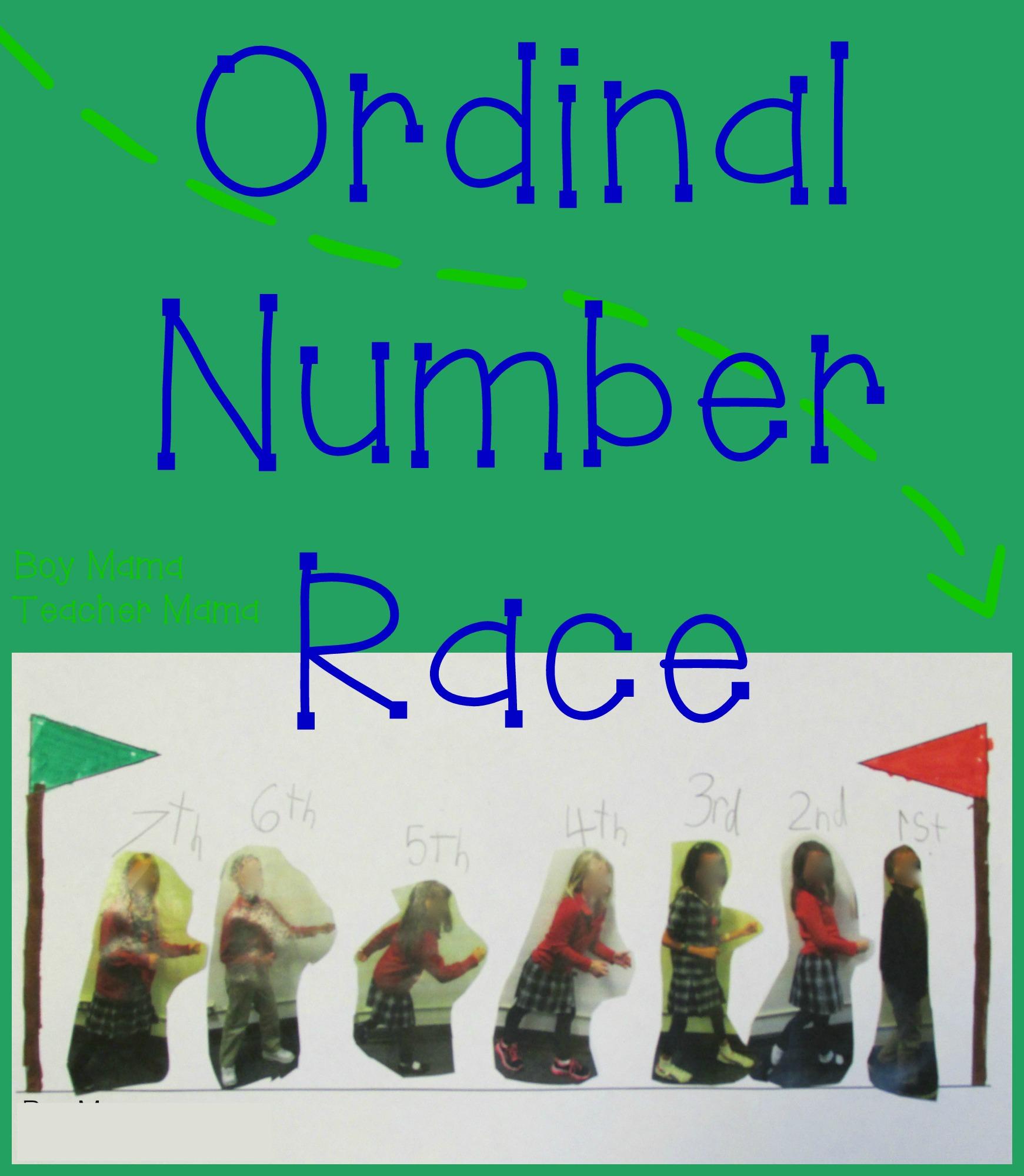 Teacher Mama Ordinal Numbers Race