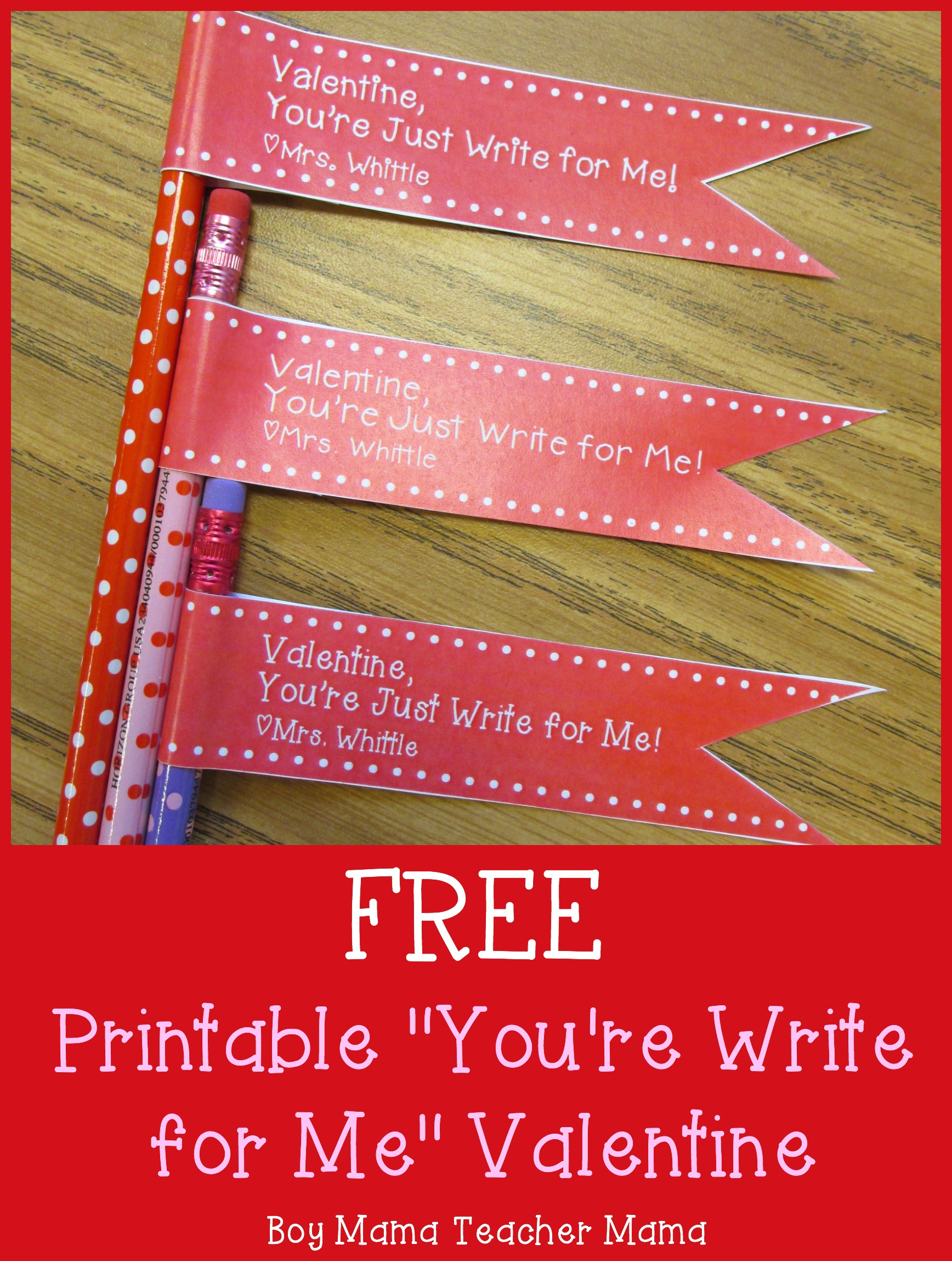 Teacher Mama FREE Printable Youre Write For Me