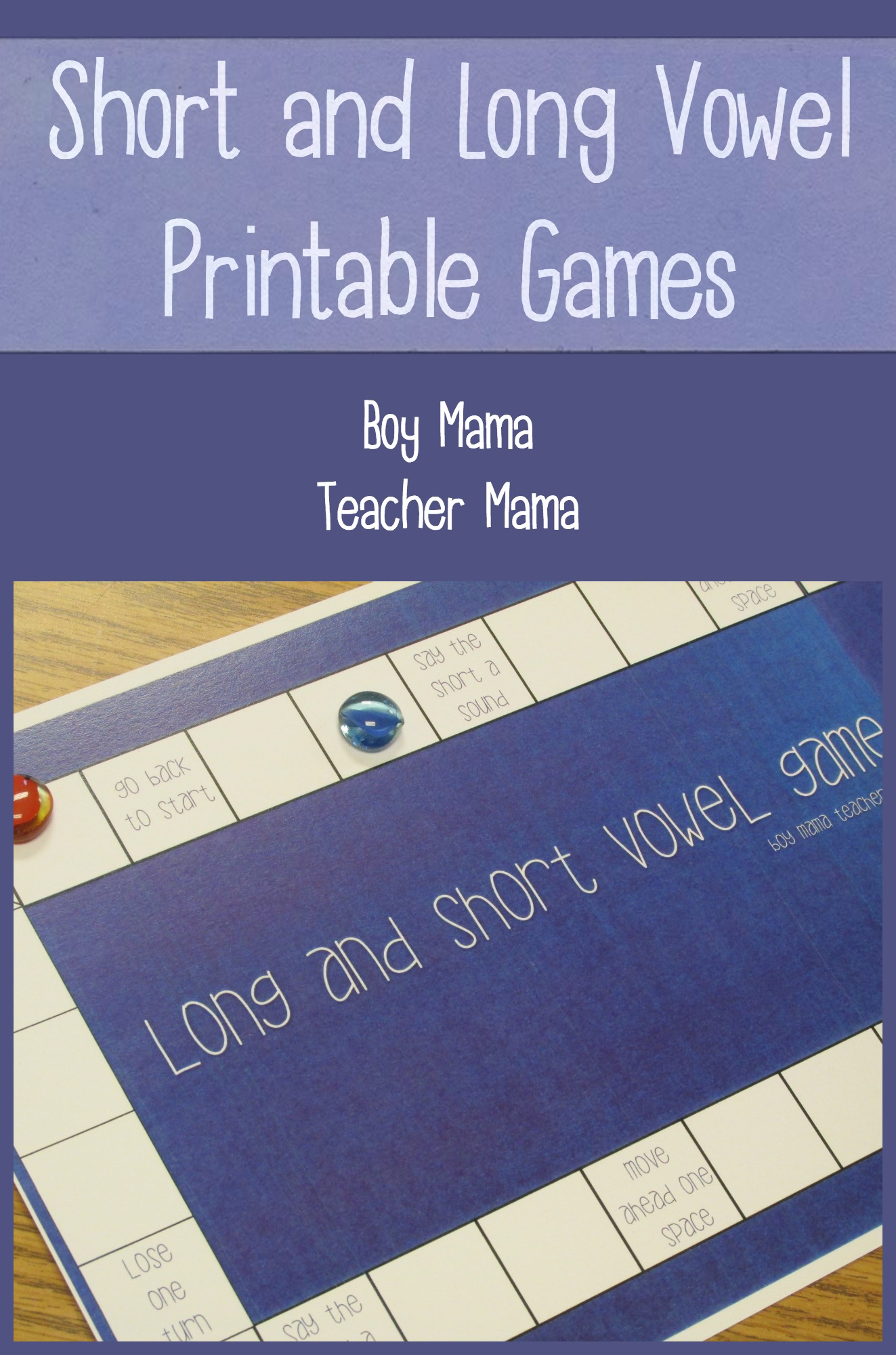Teacher Mama Short And Long Vowel Printable Games After School Linky