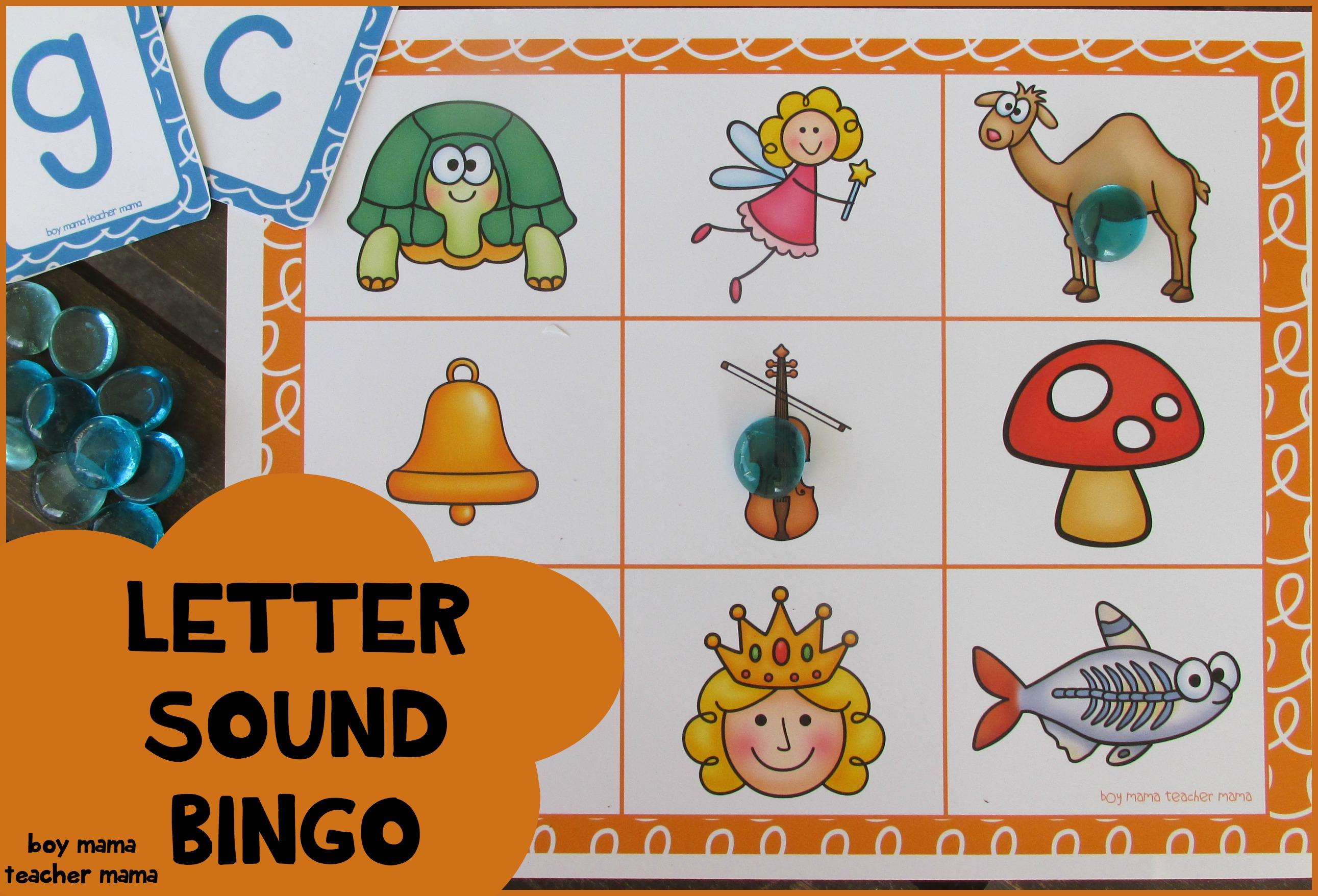 Teacher Mama Letter Sound Bingo Game After School Linky