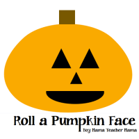 Boy Mama:  Roll a Pumpkin Face