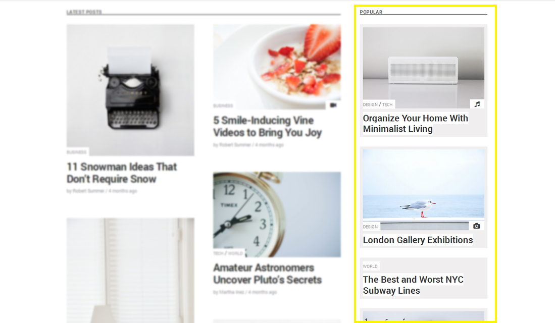 Setting up the Sidebar in free Wp blog