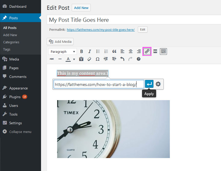 How to add w new WP post