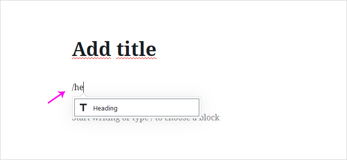 How to add headline in WordPress