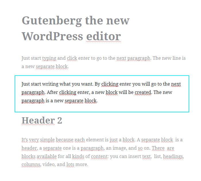 The WordPress block editor functions