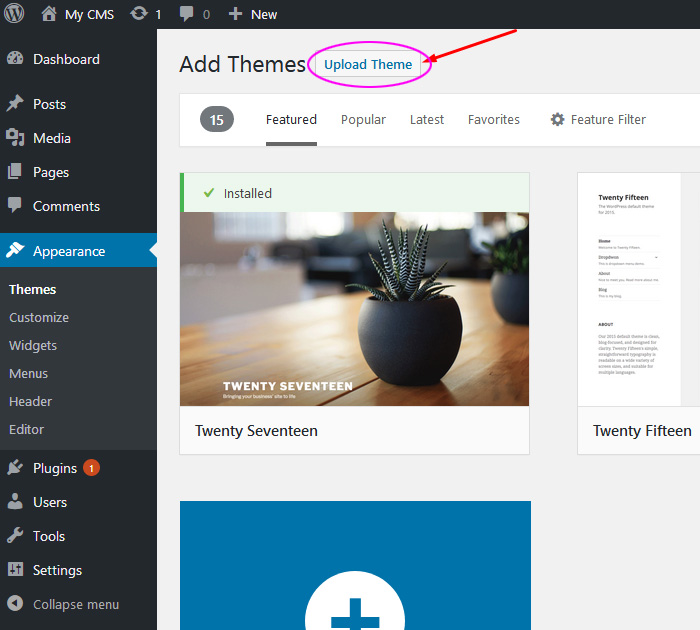 Free WP theme - adding a new one