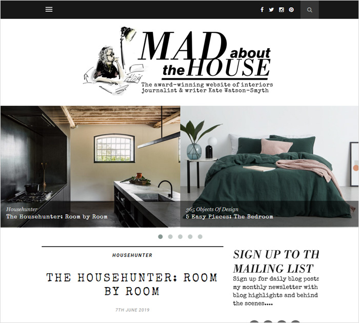 Mad about the House - best interior design blogs