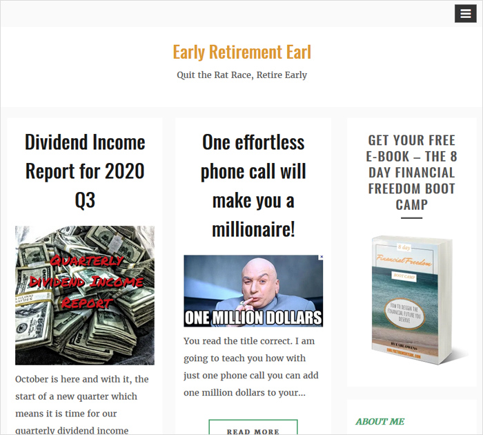 Earlyr Retirement Earl