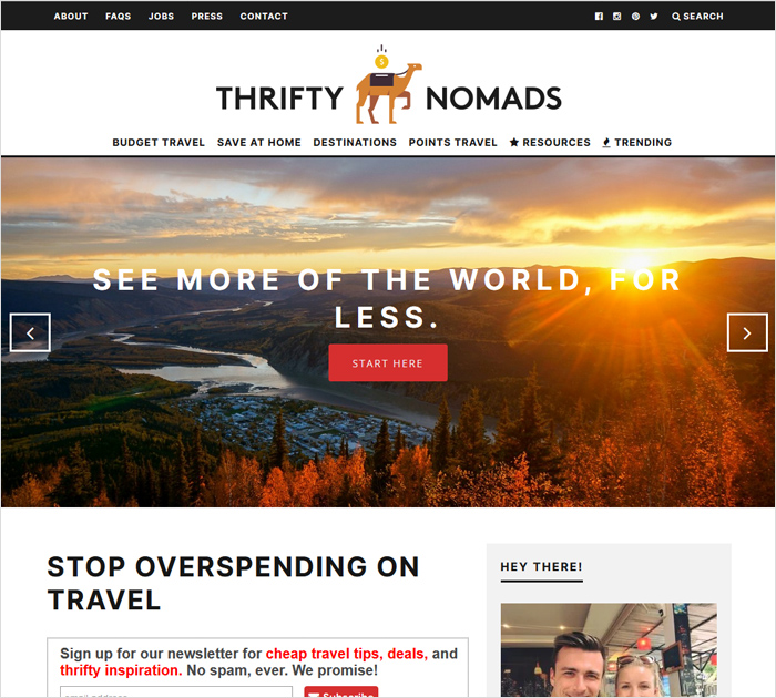 thriftynomads - Best Personal Finance Blogs