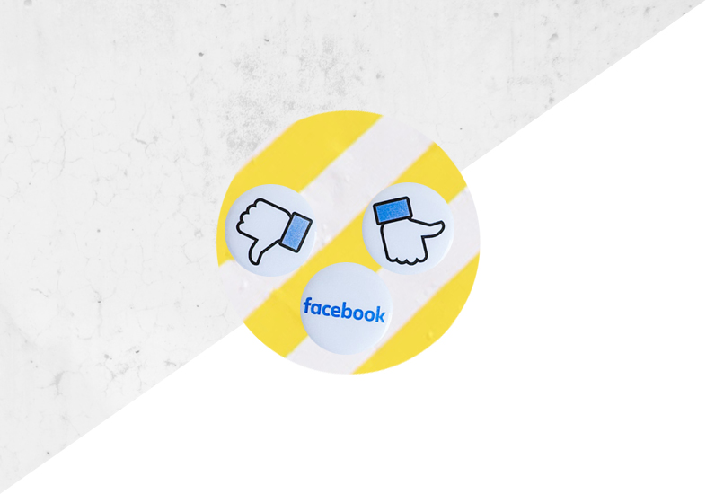 How to promote your blog on social media - Facebook logo with thumbs up